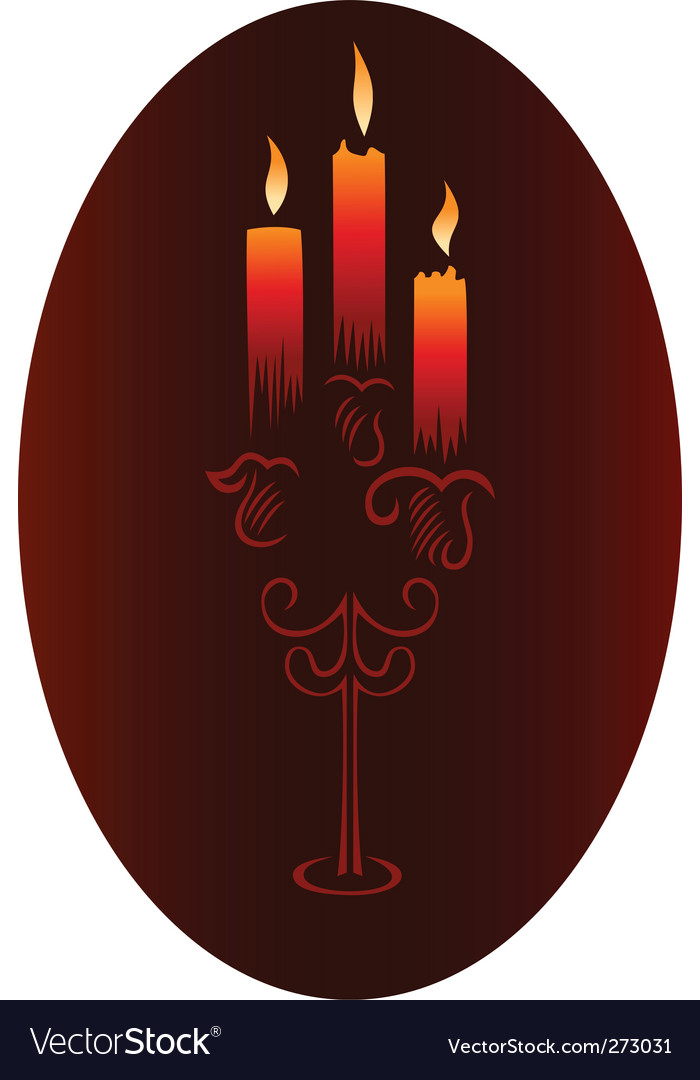 Candlesticks with candles vector | Price: 1 Credit (USD $1)