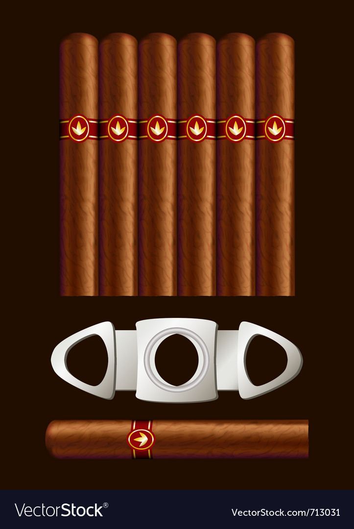 Cigars and guillotine vector | Price: 3 Credit (USD $3)
