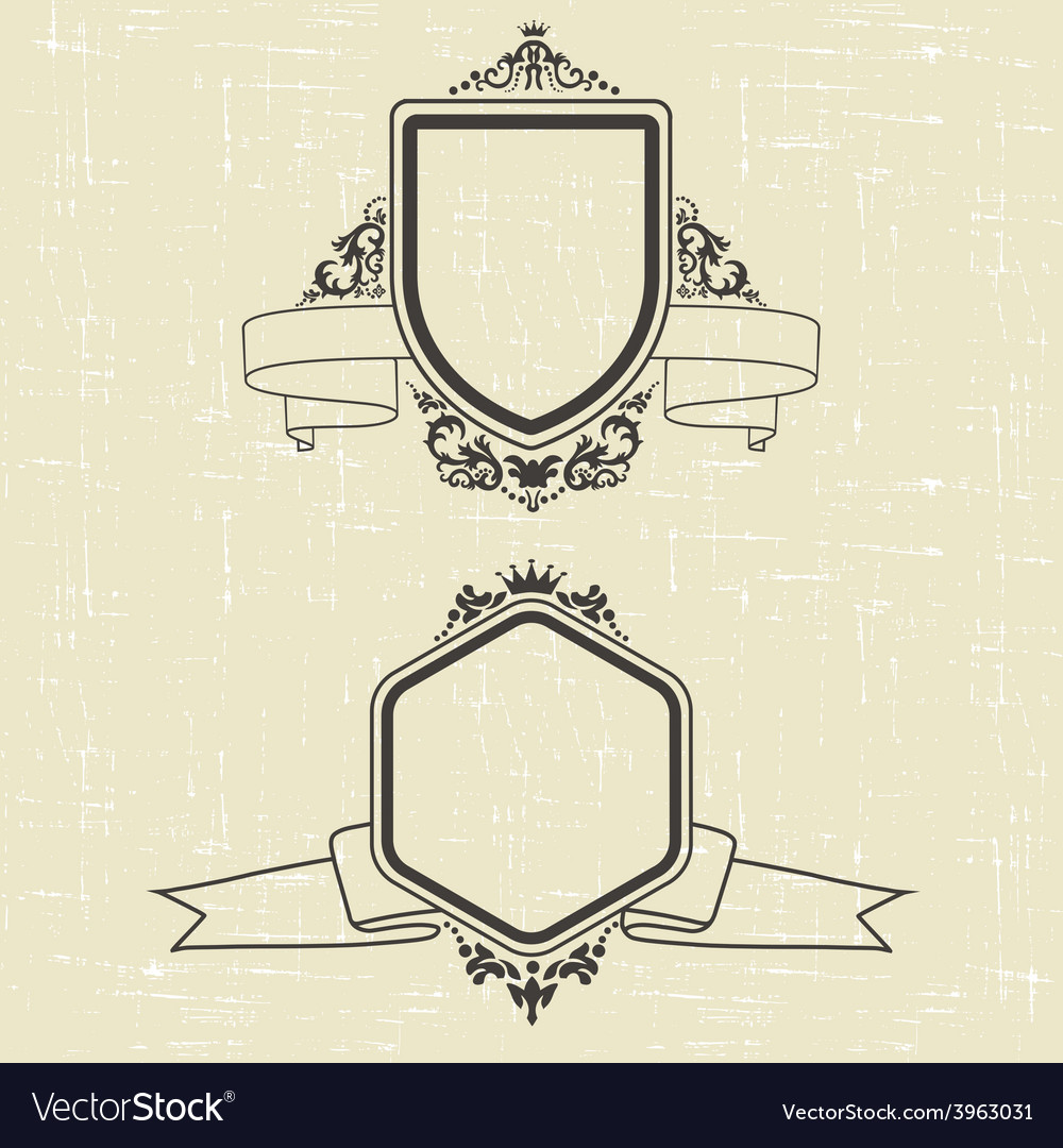 Contour emblems vector | Price: 1 Credit (USD $1)
