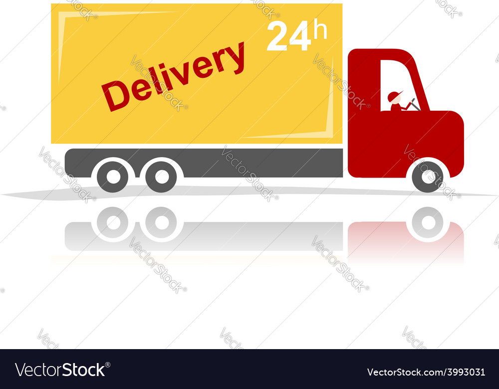Delivery car for your design vector | Price: 1 Credit (USD $1)