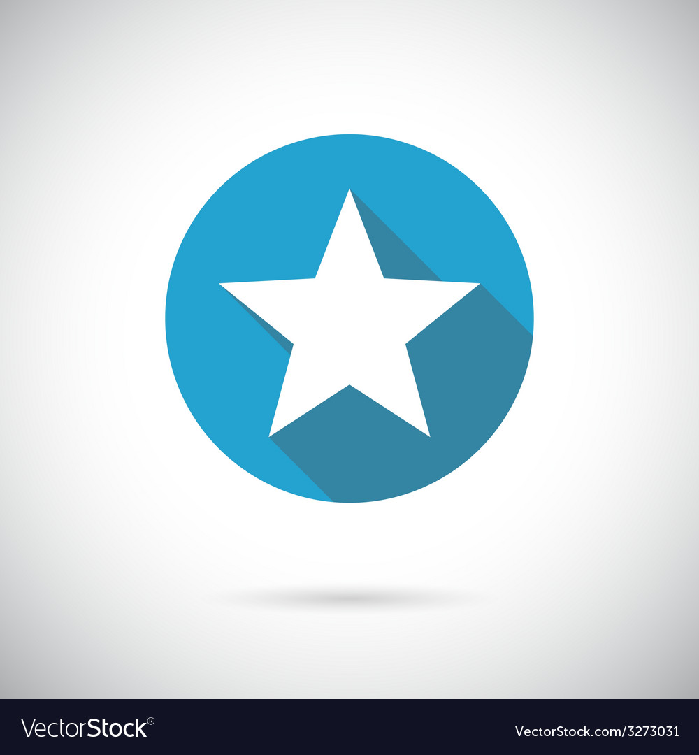 Flat star icon vector | Price: 1 Credit (USD $1)