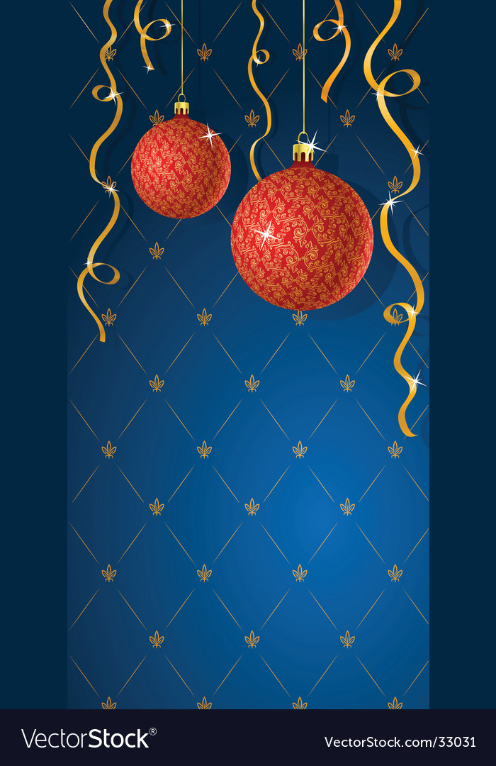 Greeting card with christmas decoratio vector | Price: 1 Credit (USD $1)