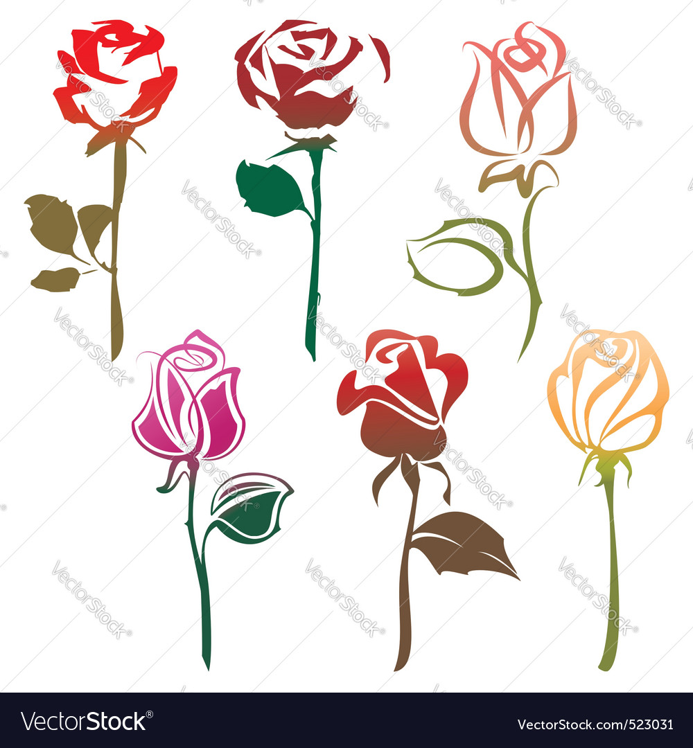 Roses sign vector | Price: 1 Credit (USD $1)