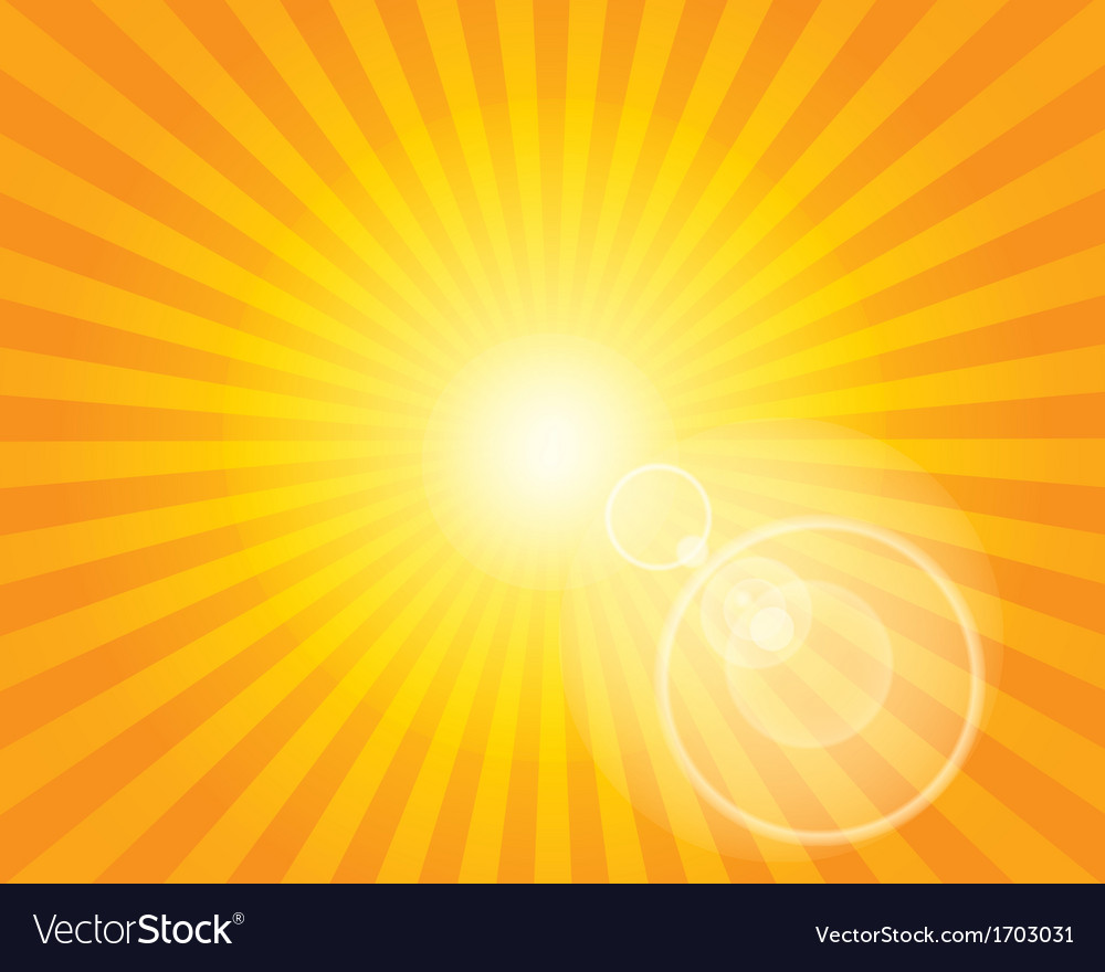 Sun sunburst pattern with lens flare vector | Price: 1 Credit (USD $1)