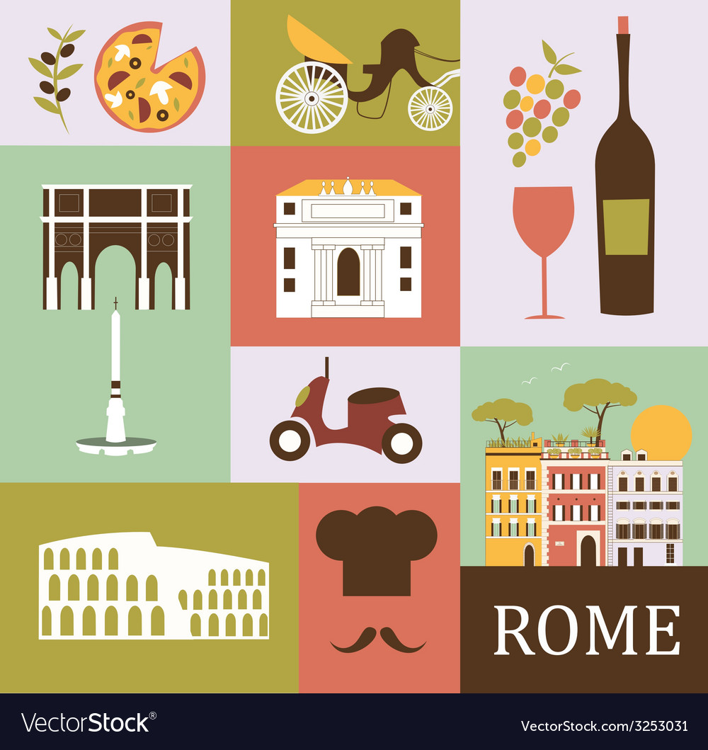 Symbols of rome vector | Price: 1 Credit (USD $1)