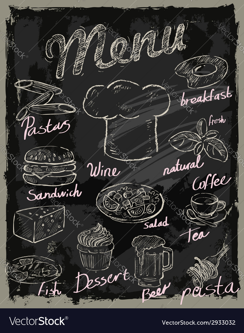 Chalk menu vector | Price: 1 Credit (USD $1)