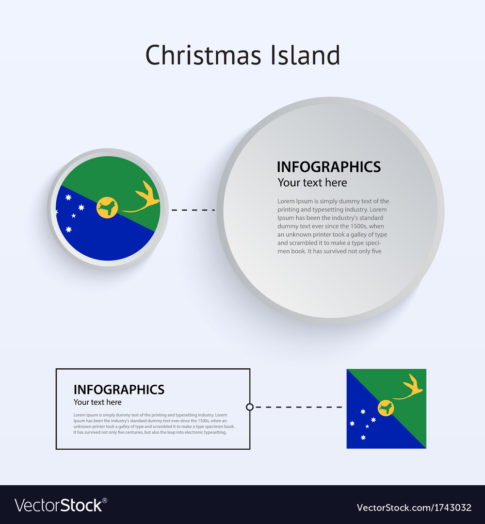 Christmas island country set of banners vector | Price: 1 Credit (USD $1)