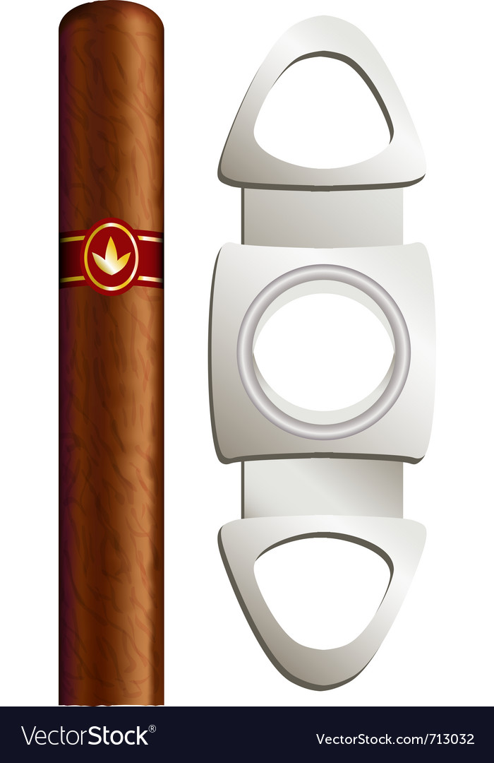 Cigar and guillotine vector | Price: 1 Credit (USD $1)