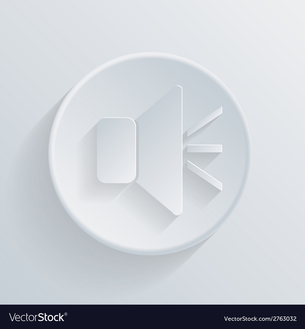Circle icon with a shadow loudspeaker vector | Price: 1 Credit (USD $1)