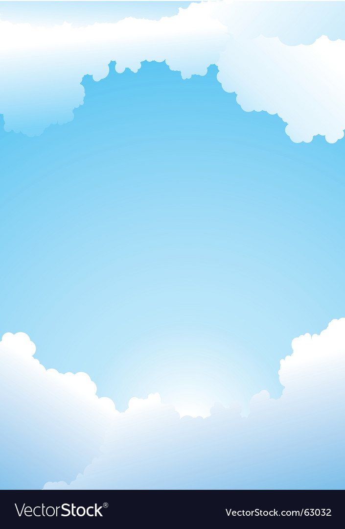Clear blue sky vector