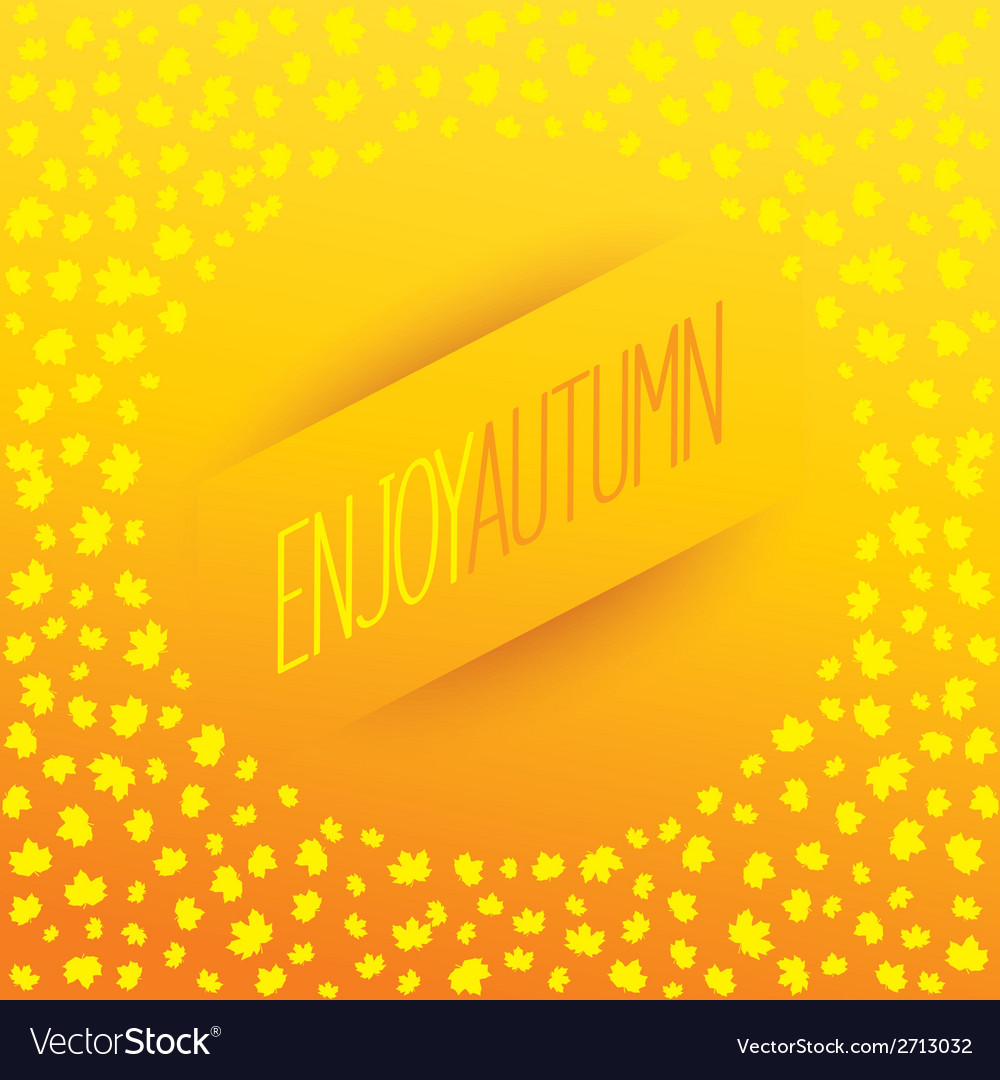 Enjoy autumn banner vector | Price: 1 Credit (USD $1)