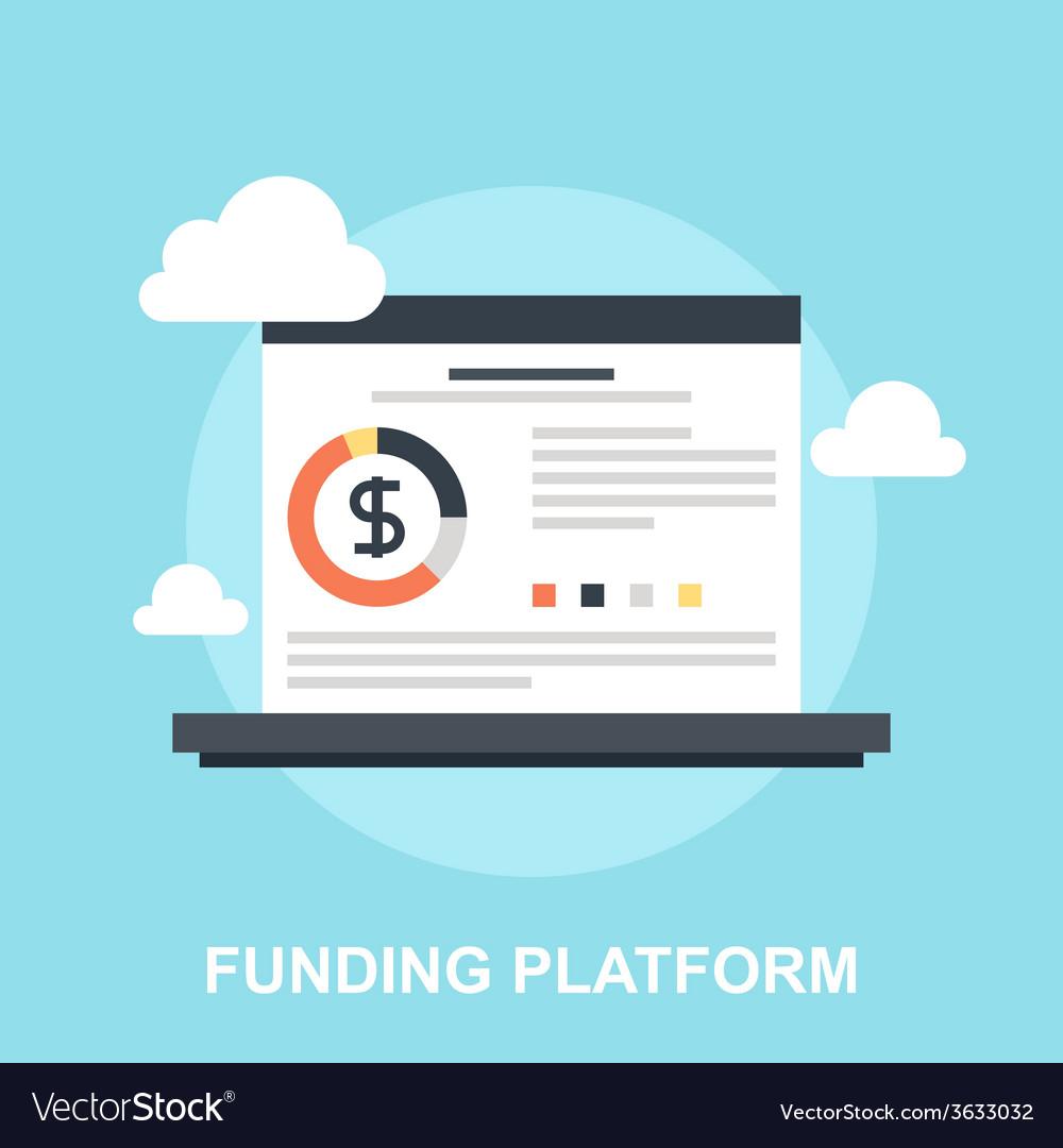 Funding platform vector | Price: 1 Credit (USD $1)