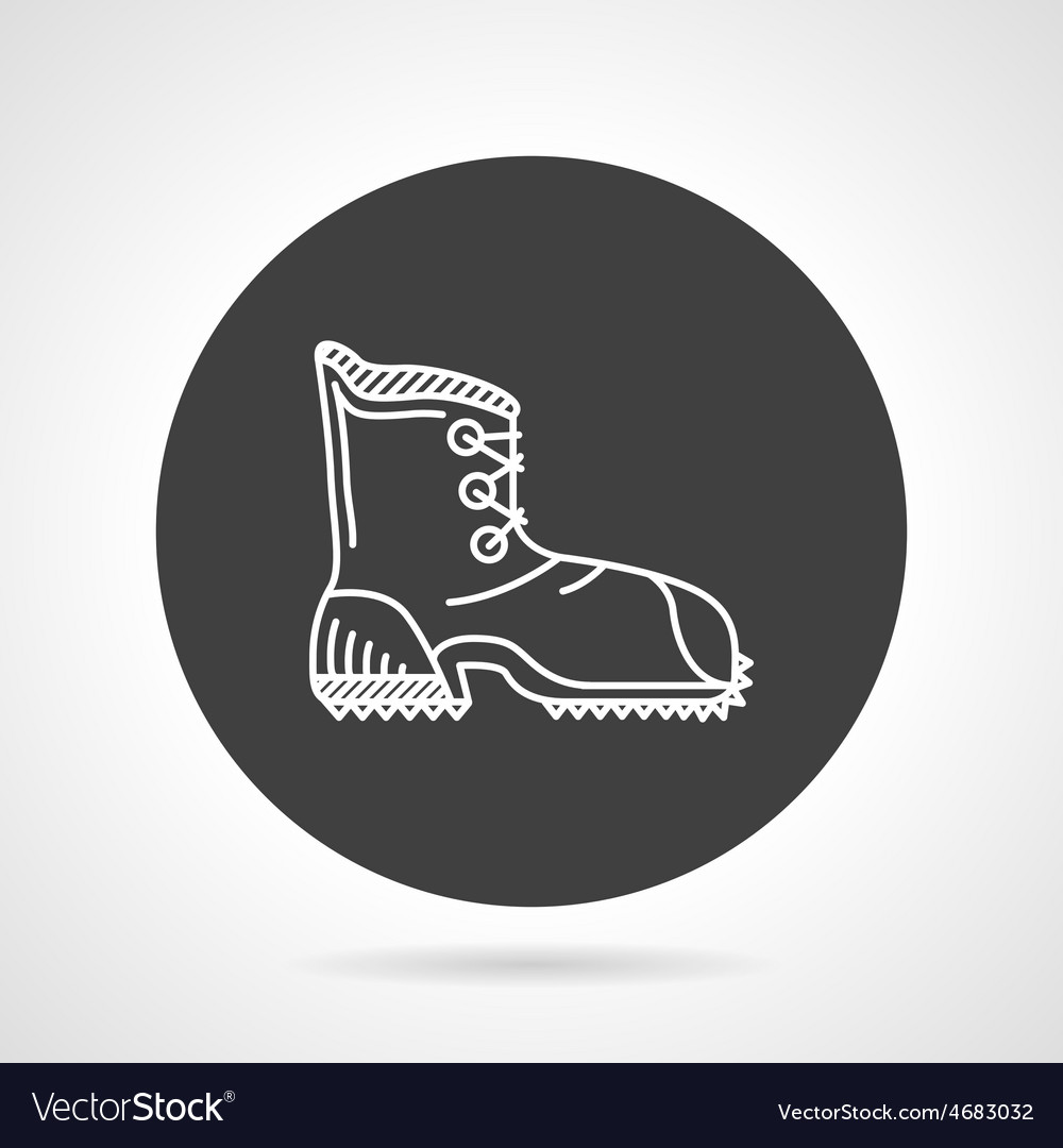 Hiking shoe black round icon vector | Price: 1 Credit (USD $1)