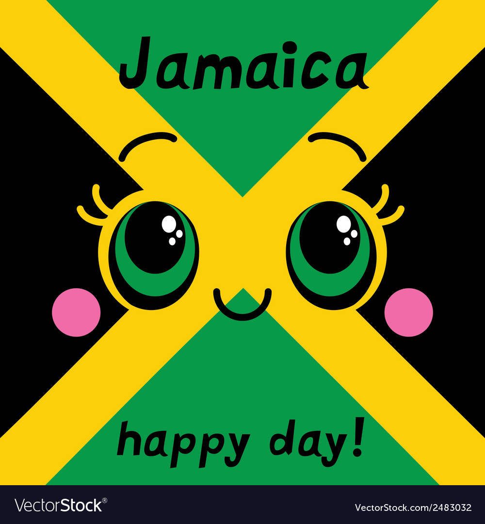 Jamaica happy day greeting card vector | Price: 1 Credit (USD $1)
