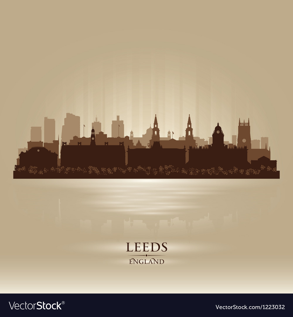 Leeds england skyline city silhouette vector | Price: 1 Credit (USD $1)