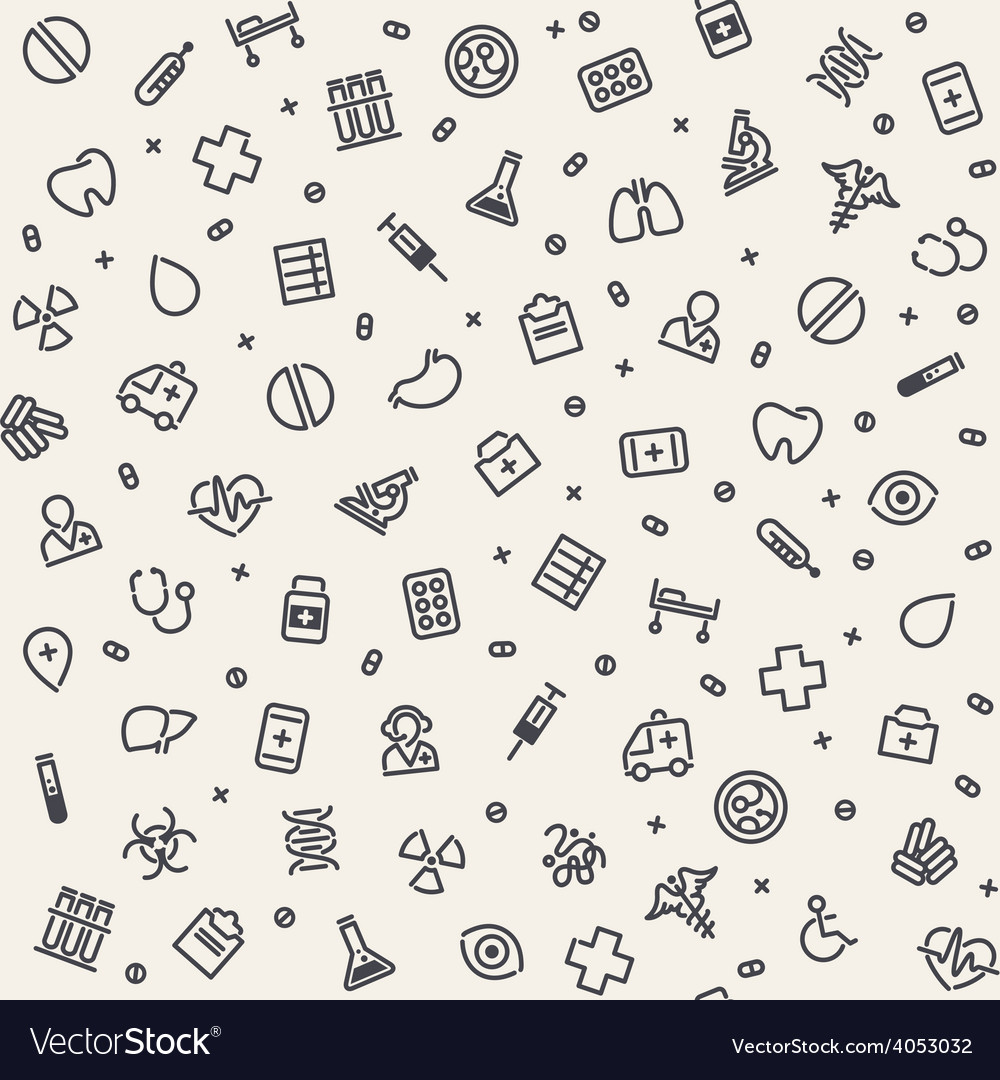 Light seamless medical pattern vector | Price: 1 Credit (USD $1)