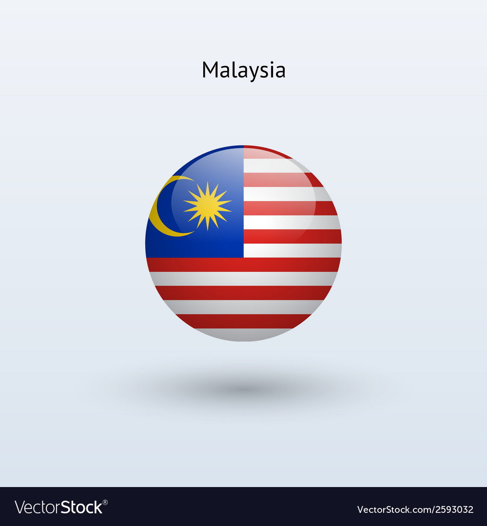 Malaysia round flag vector | Price: 1 Credit (USD $1)