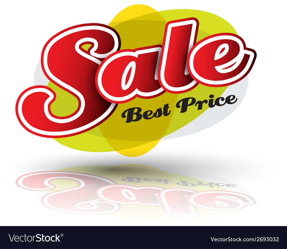 Sale best price banner vector | Price: 1 Credit (USD $1)