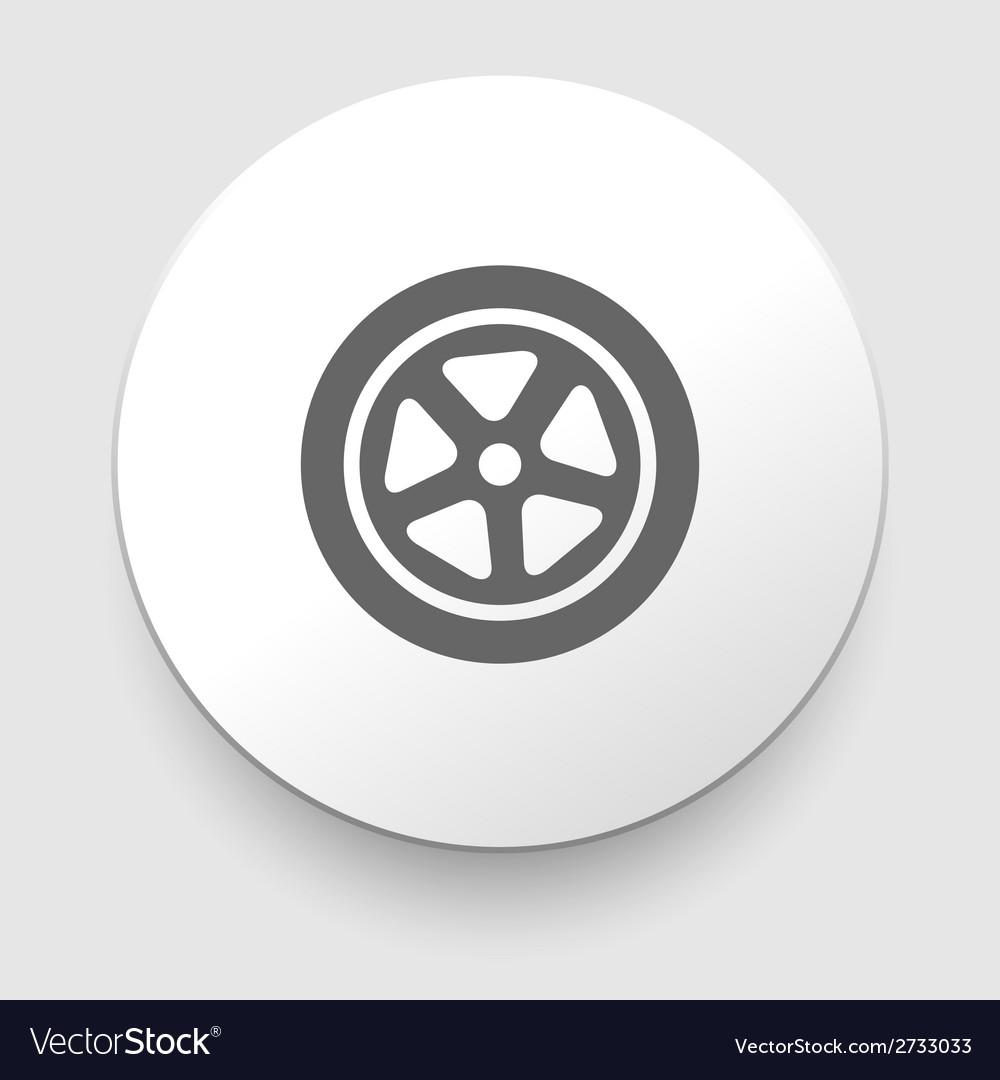 Auto wheel tire icon isolated vector | Price: 1 Credit (USD $1)