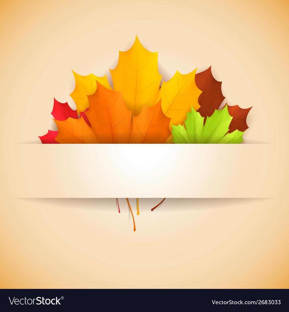 Autumn banner vector   Price: 1 Credit (USD $1)