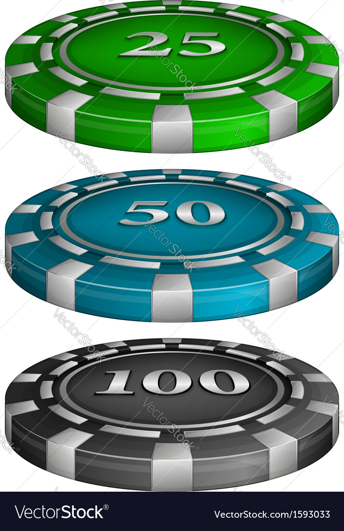 Casino poker chips vector | Price: 1 Credit (USD $1)