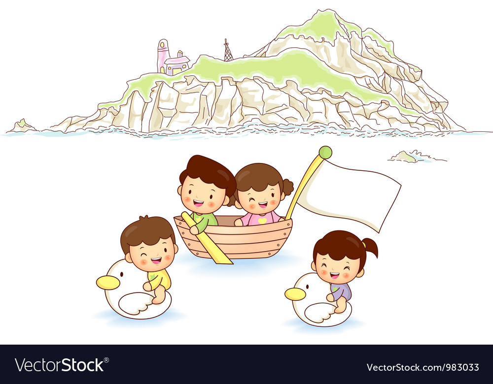 Children ocean travel vector | Price: 3 Credit (USD $3)