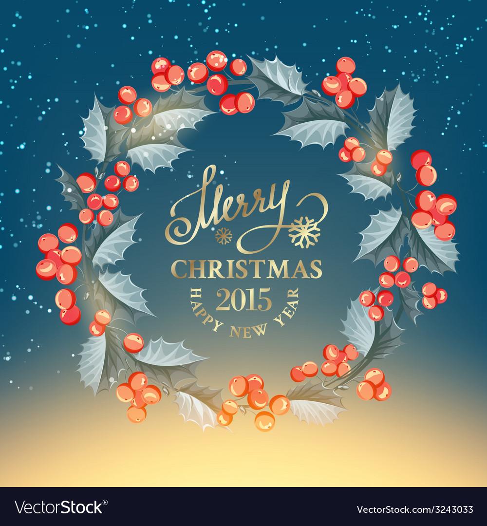 Christmas mistletoe wreath vector   Price: 1 Credit (USD $1)