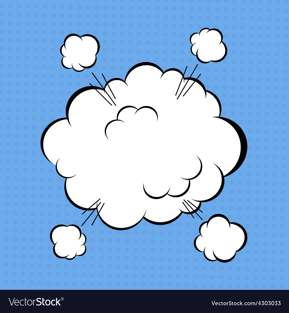 Comic cloud vector | Price: 1 Credit (USD $1)