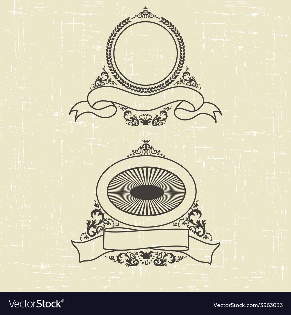 Contour heraldic emblem vector | Price: 1 Credit (USD $1)