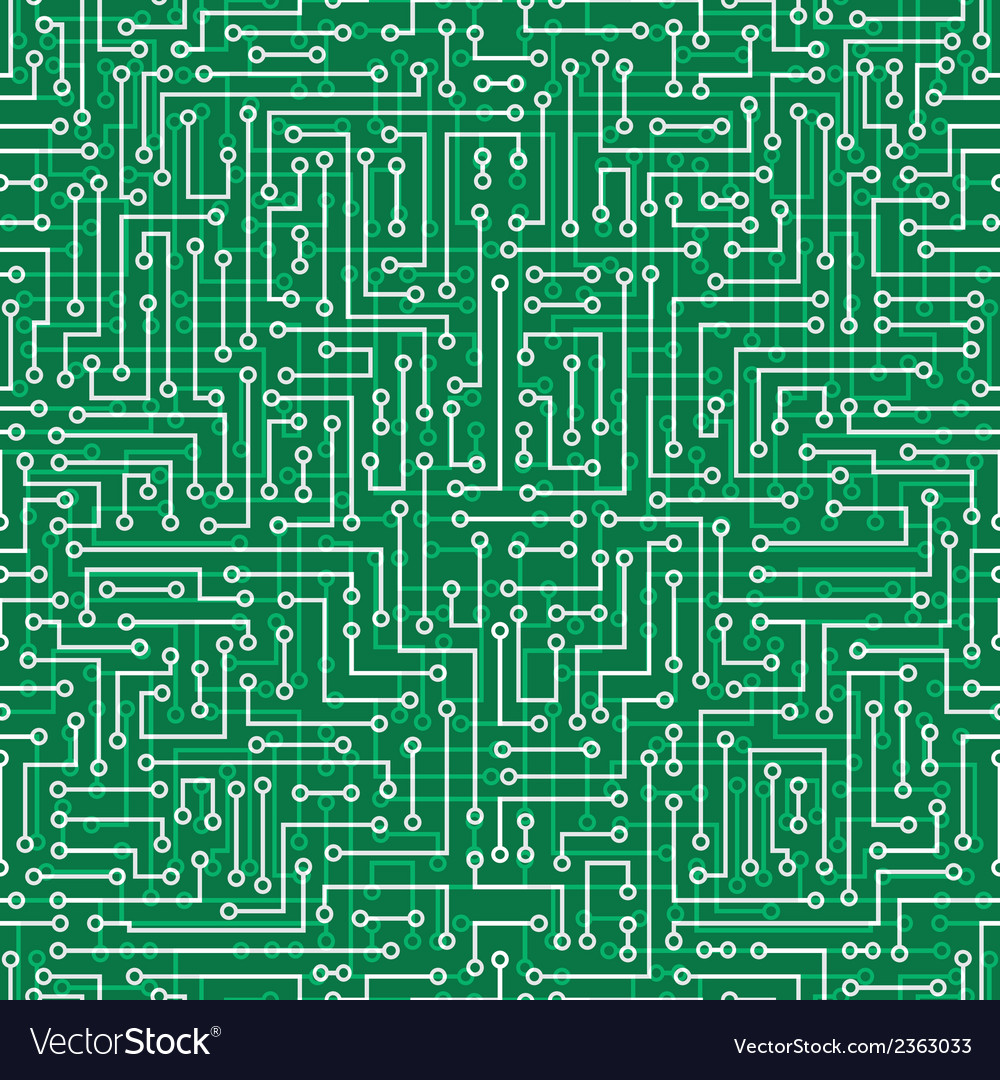 Seamless abstract electronic background vector | Price: 1 Credit (USD $1)