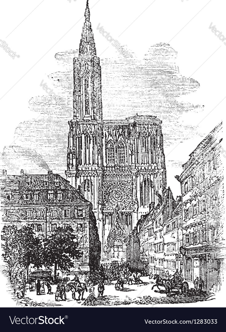 Strasbourg cathedral vector | Price: 1 Credit (USD $1)
