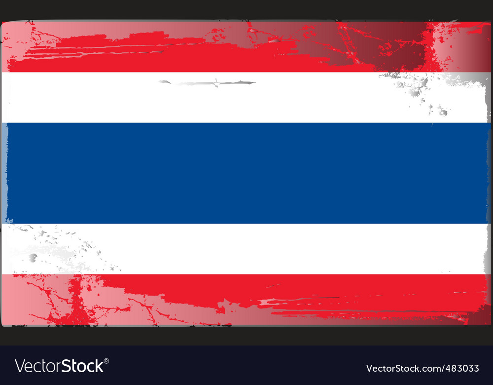 Thailand national flag vector | Price: 1 Credit (USD $1)