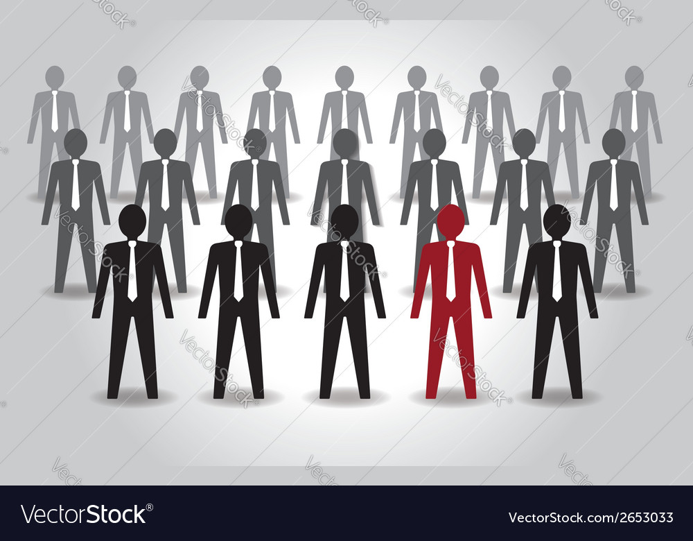 Unusual person in the crowd leadership vector | Price: 1 Credit (USD $1)