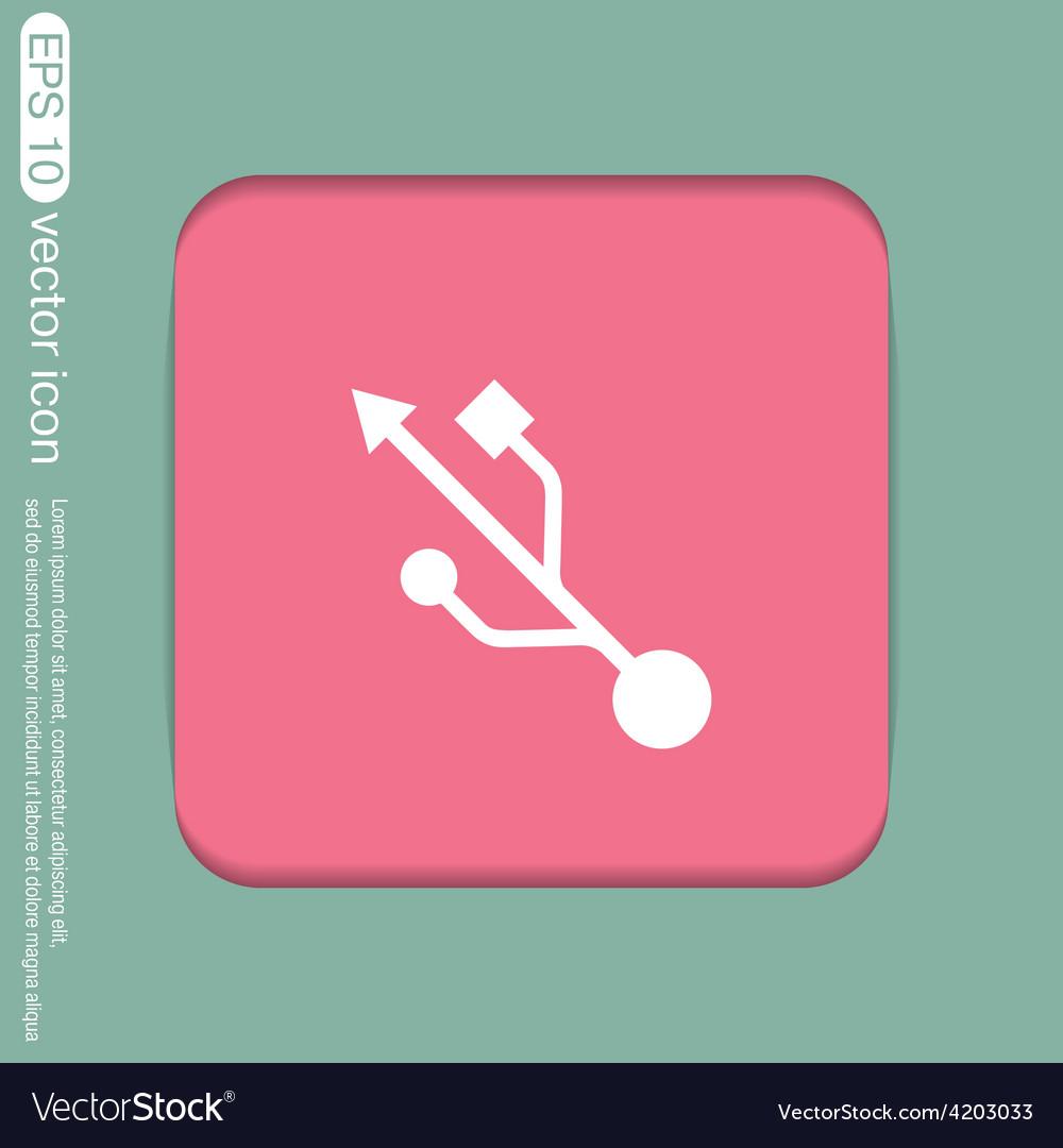 Usb symbol usb icon computer sign vector | Price: 1 Credit (USD $1)