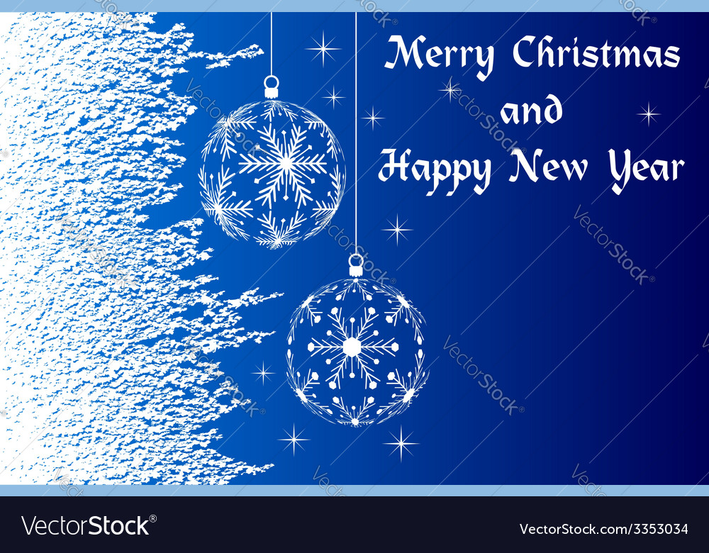 Blue merry christmas and happy new year vector | Price: 1 Credit (USD $1)