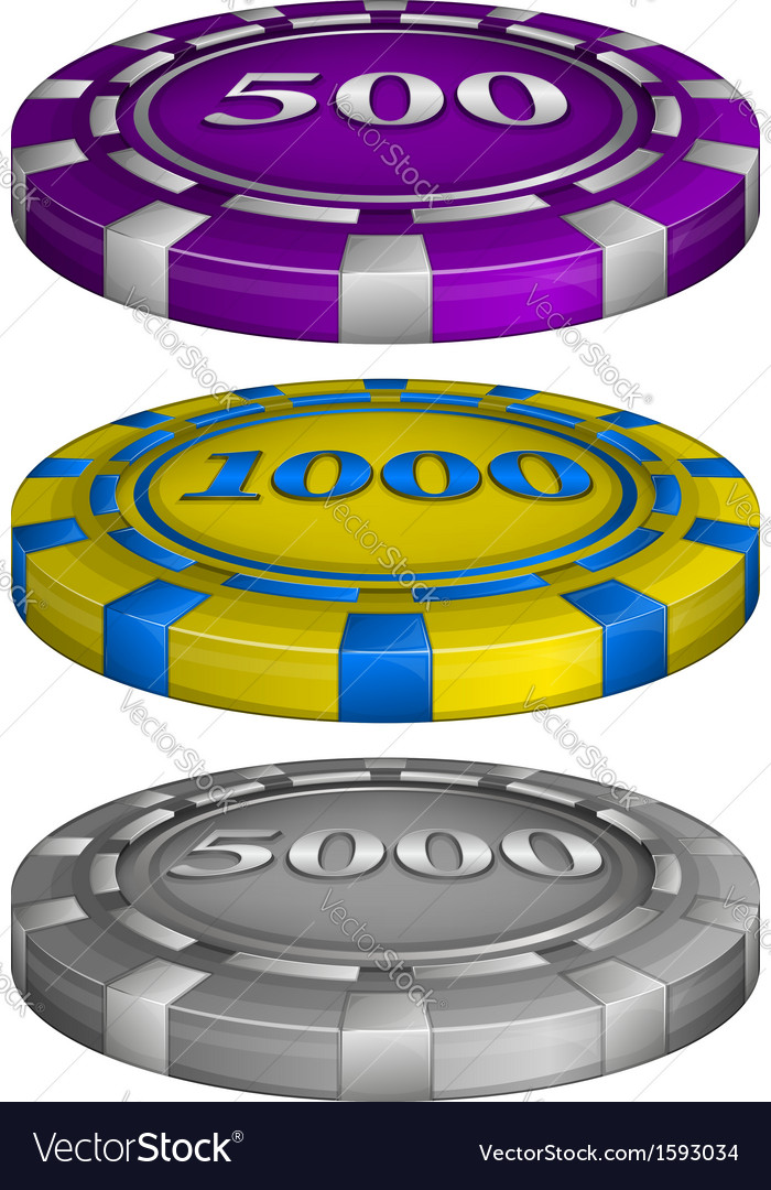 Casino poker chips vector | Price: 1 Credit (USD $1)