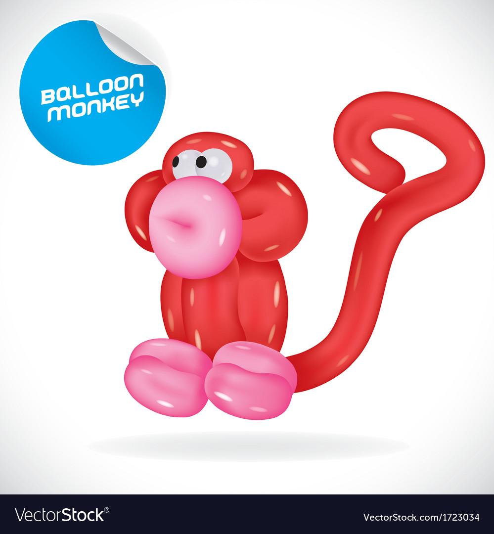 Glossy balloon monkey vector   Price: 1 Credit (USD $1)
