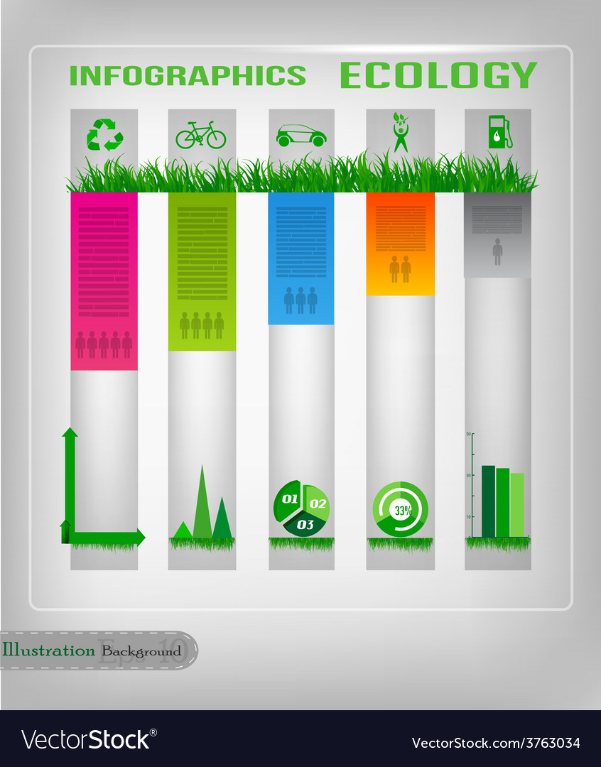 Infographic ecology design vector | Price: 1 Credit (USD $1)