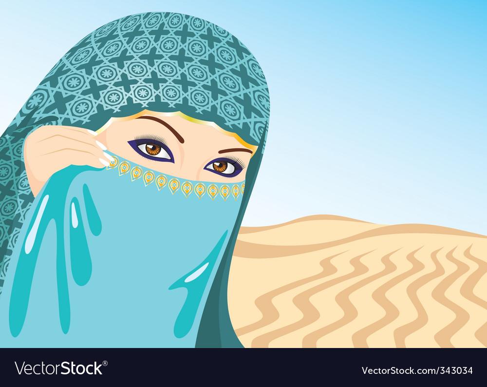 Muslim woman vector | Price: 1 Credit (USD $1)