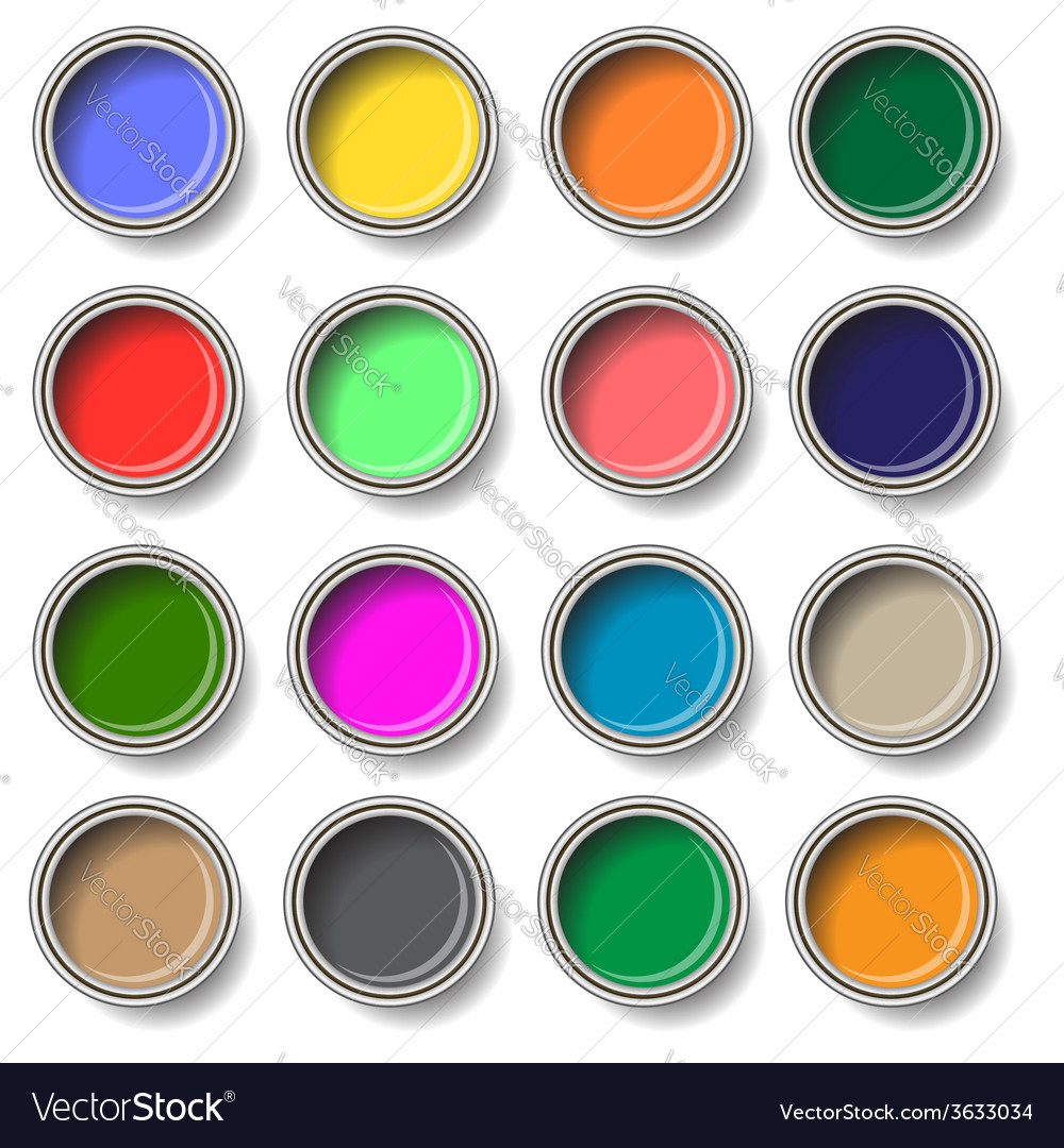 Oil paints vector