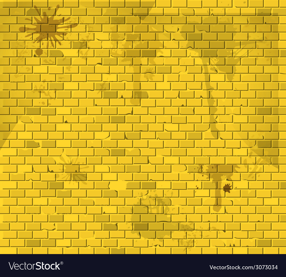 Old dirty yellow brick wall background vector   Price: 1 Credit (USD $1)