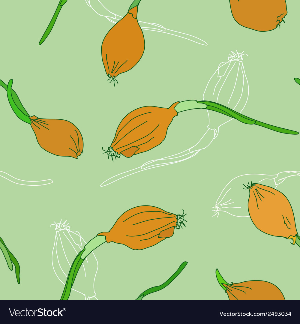 Seamless pattern with golden onion vector | Price: 1 Credit (USD $1)