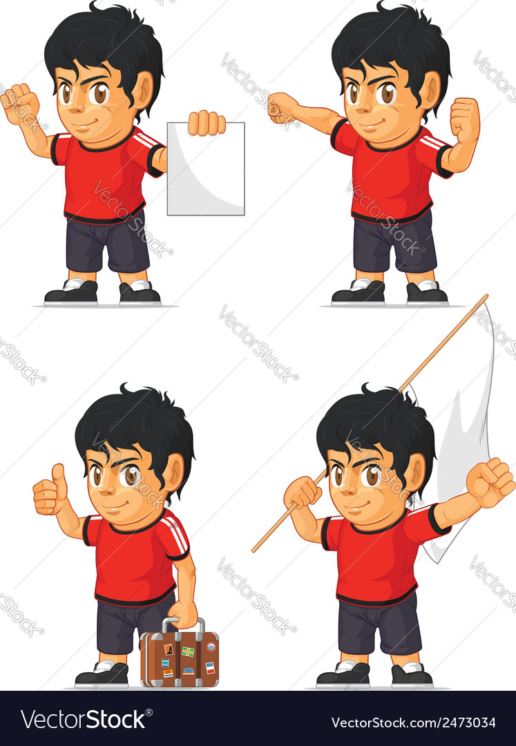 Soccer boy customizable mascot 15 vector | Price: 1 Credit (USD $1)