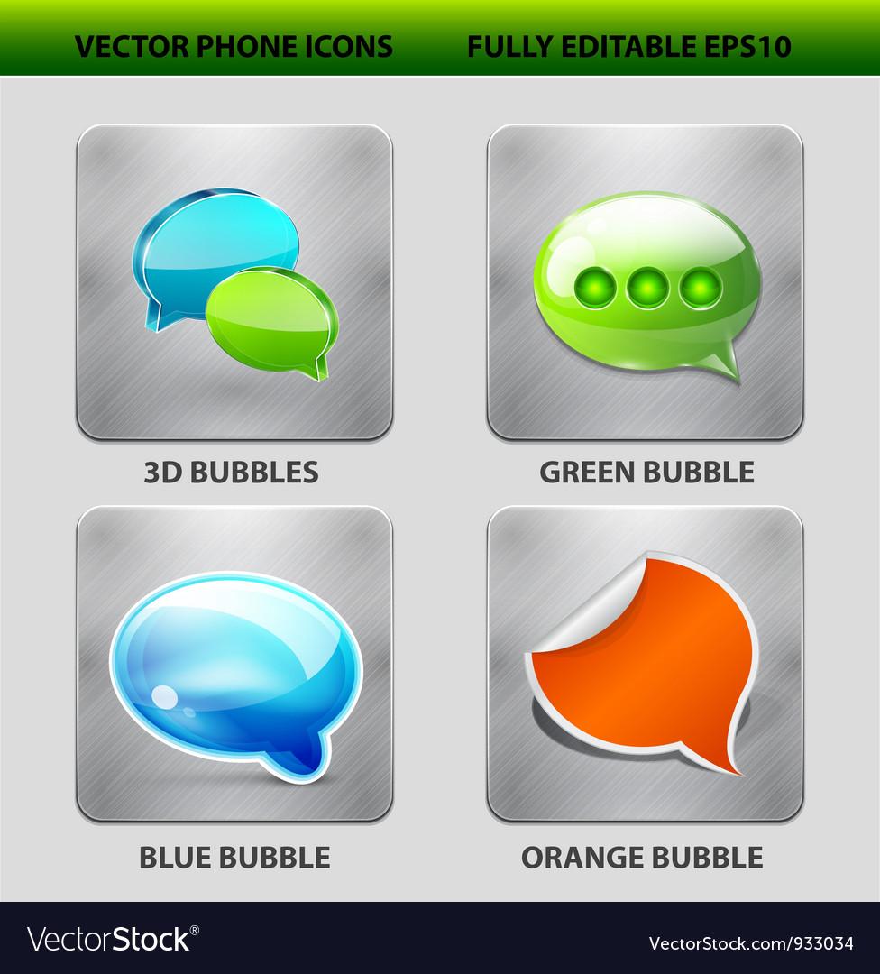 Speech bubble icon set vector | Price: 3 Credit (USD $3)