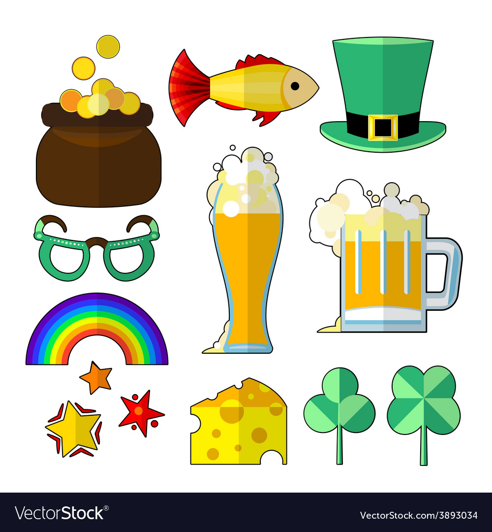 St patrik food objects vector | Price: 1 Credit (USD $1)