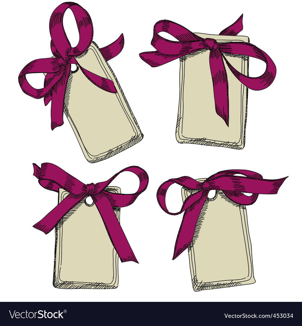 Tags with bow vector   Price: 1 Credit (USD $1)