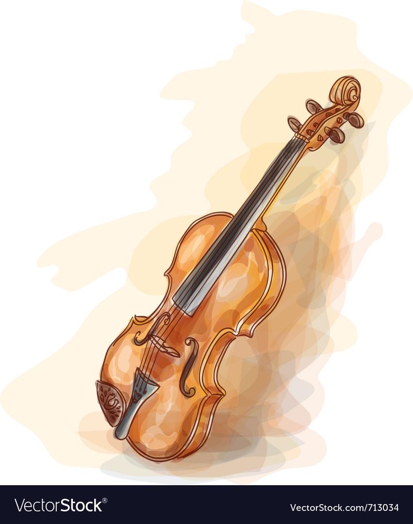 Violin vatercolor style vector | Price: 1 Credit (USD $1)