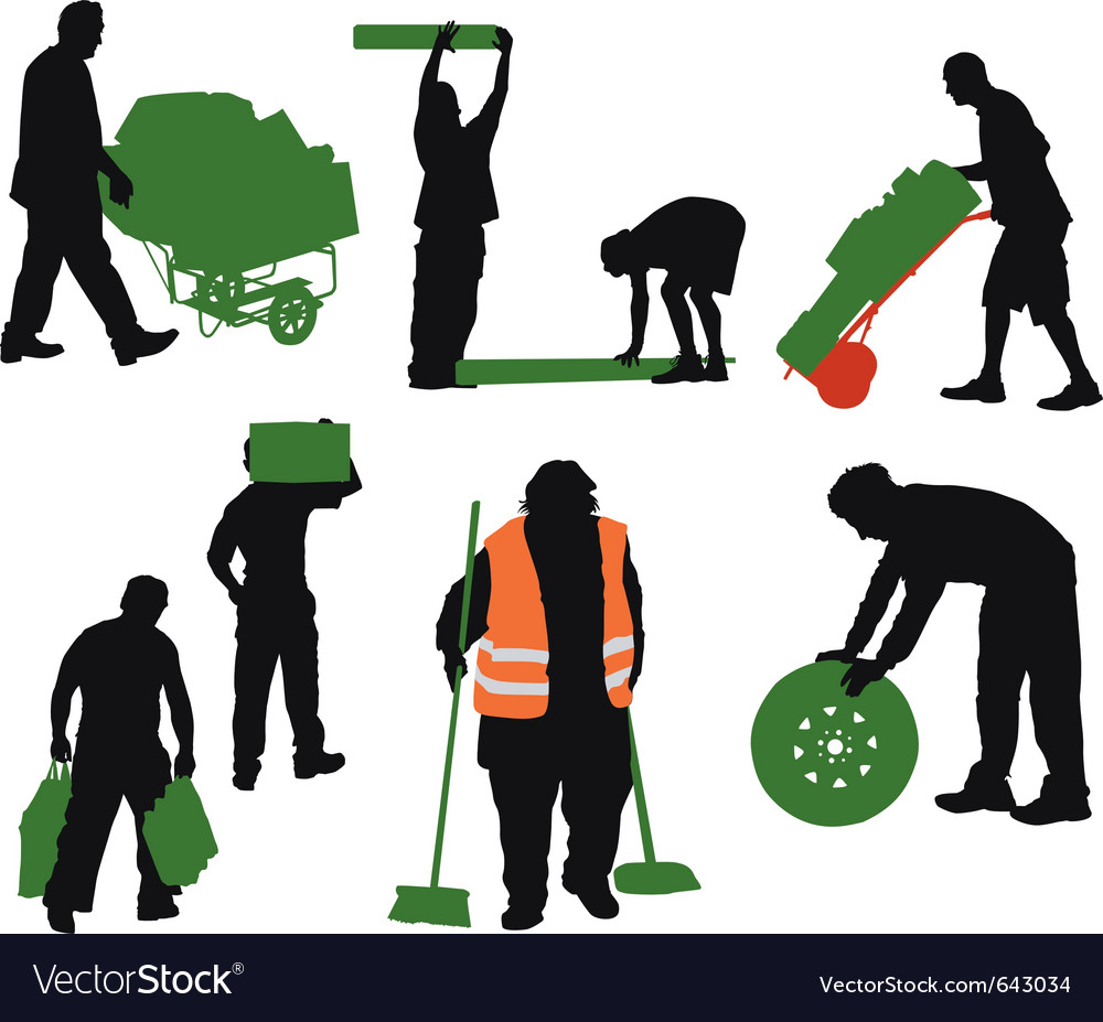 Worked people vector | Price: 1 Credit (USD $1)