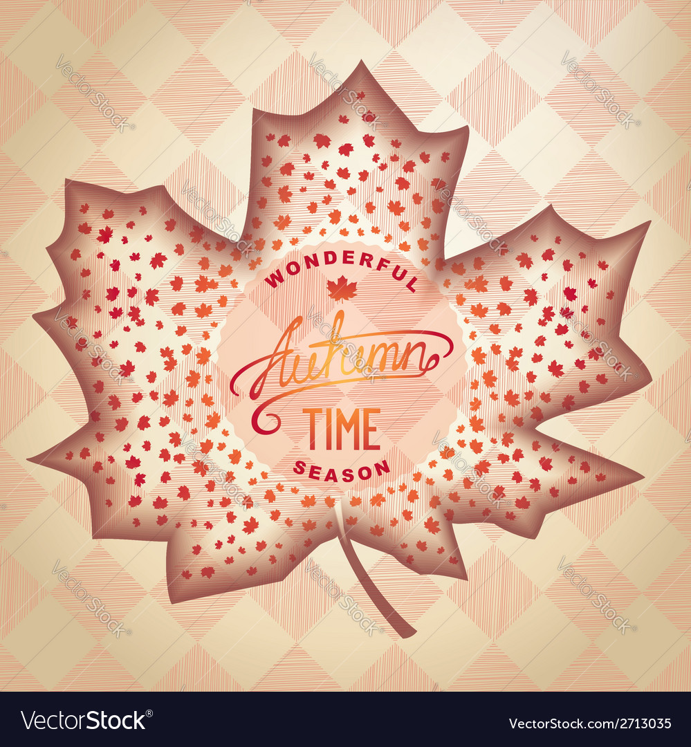 Abstract autumn design vector | Price: 1 Credit (USD $1)