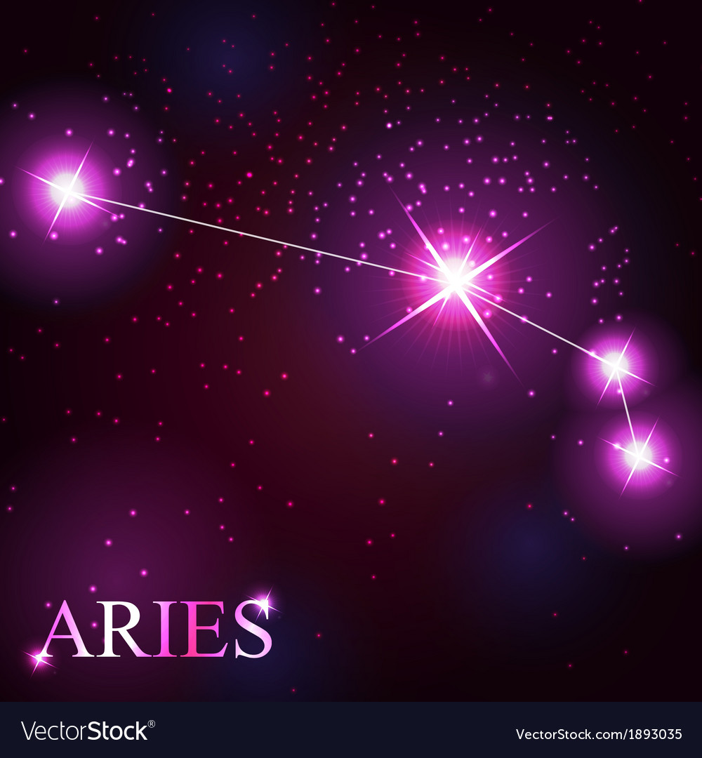 Aries zodiac sign of the beautiful bright stars vector | Price: 1 Credit (USD $1)